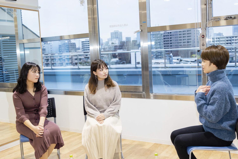 左から外島千夏さん、工藤あかりさん、河辺千恵子さん