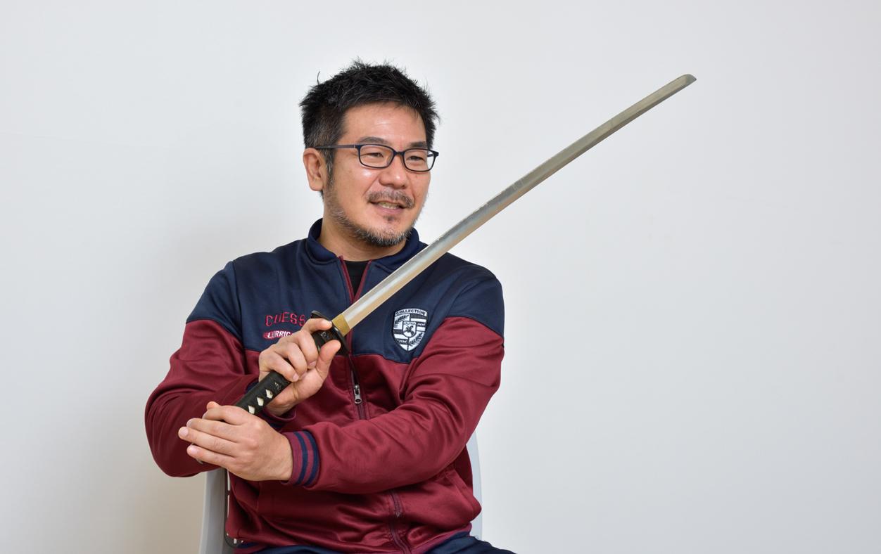 テアトルアカデミーで殺陣の講師をされている梶武志先生